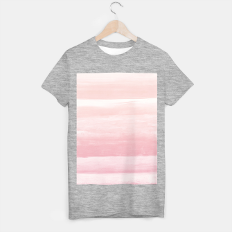 Blush Watercolor Abstract Minimalism #1 #minimal #painting #decor #art  T-Shirt regulär obraz miniatury