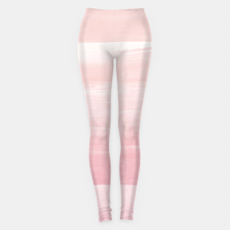 Blush Watercolor Abstract Minimalism #1 #minimal #painting #decor #art  Leggings obraz miniatury