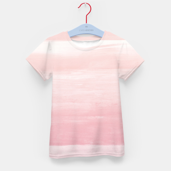 Blush Watercolor Abstract Minimalism #1 #minimal #painting #decor #art  T-Shirt für kinder obraz miniatury