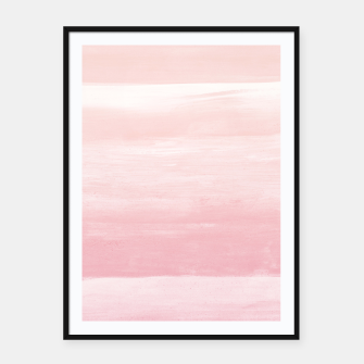 Blush Watercolor Abstract Minimalism #1 #minimal #painting #decor #art  Plakat mit rahmen obraz miniatury