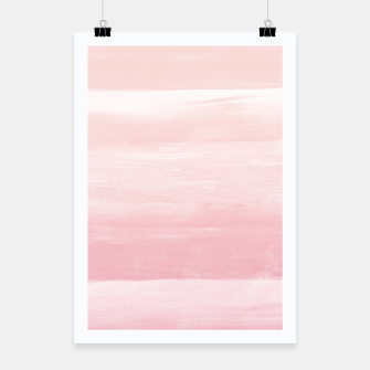 Blush Watercolor Abstract Minimalism #1 #minimal #painting #decor #art  Plakat obraz miniatury