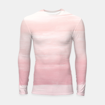 Blush Watercolor Abstract Minimalism #1 #minimal #painting #decor #art  Longsleeve rashguard obraz miniatury