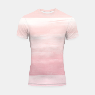 Thumbnail image of Blush Watercolor Abstract Minimalism #1 #minimal #painting #decor #art  Shortsleeve rashguard, Live Heroes