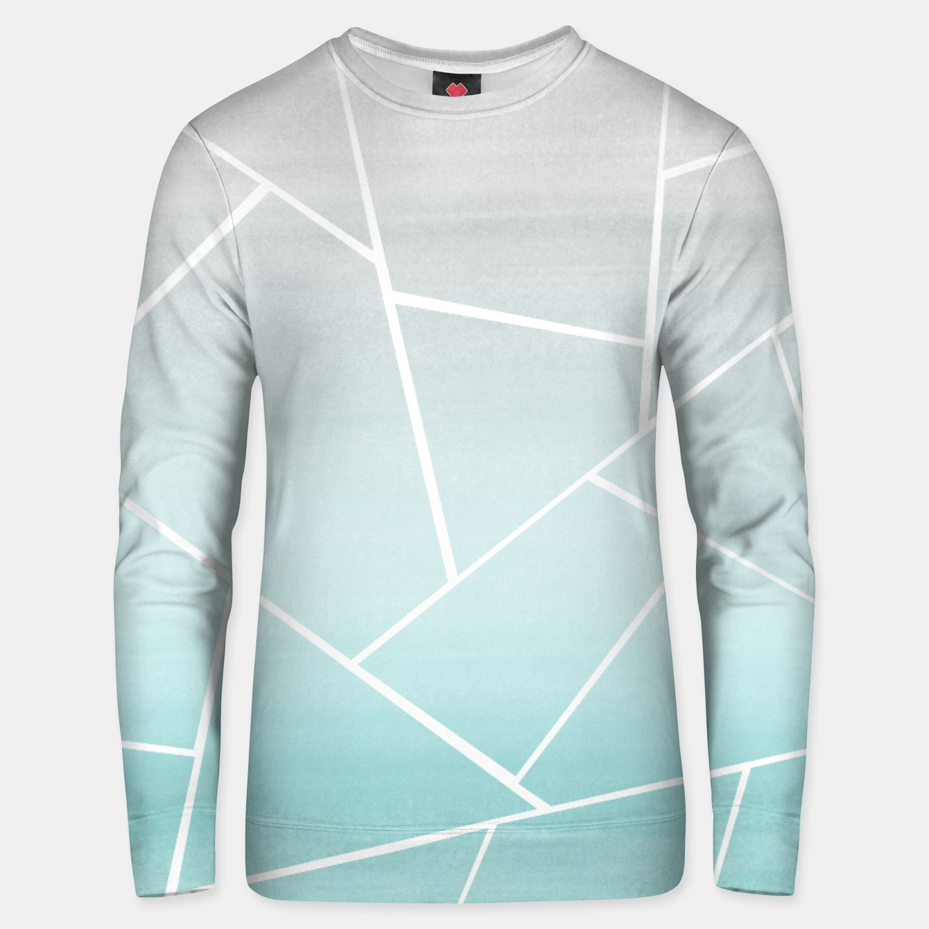 Zdjęcie Soft Teal Gray Watercolor Geometric Glam #1 #geo #decor #art  Unisex sweatshirt - Live Heroes