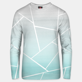 Soft Teal Gray Watercolor Geometric Glam #1 #geo #decor #art  Unisex sweatshirt obraz miniatury