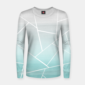Thumbnail image of Soft Teal Gray Watercolor Geometric Glam #1 #geo #decor #art  Frauen sweatshirt, Live Heroes