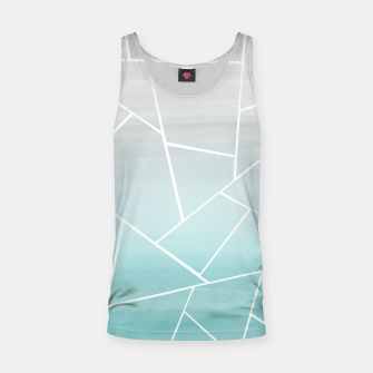 Thumbnail image of Soft Teal Gray Watercolor Geometric Glam #1 #geo #decor #art  Muskelshirt , Live Heroes