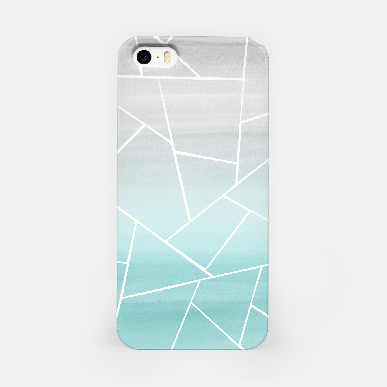 Zdjęcie Soft Teal Gray Watercolor Geometric Glam #1 #geo #decor #art  iPhone-Hülle - Live Heroes