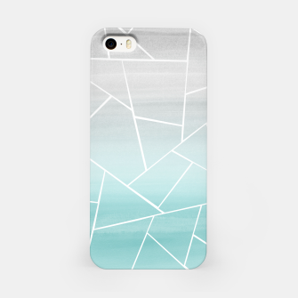 Soft Teal Gray Watercolor Geometric Glam #1 #geo #decor #art  iPhone-Hülle obraz miniatury