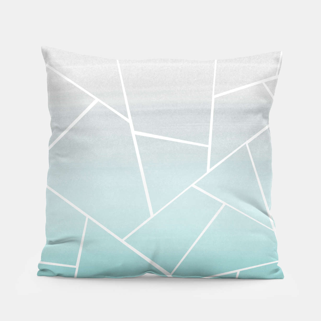 Zdjęcie Soft Teal Gray Watercolor Geometric Glam #1 #geo #decor #art  Kissen - Live Heroes