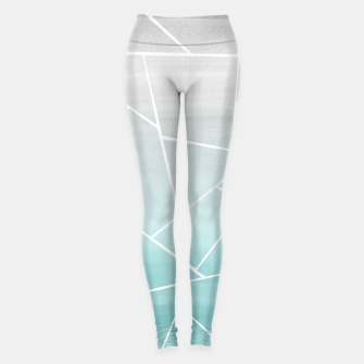 Miniaturka Soft Teal Gray Watercolor Geometric Glam #1 #geo #decor #art  Leggings, Live Heroes