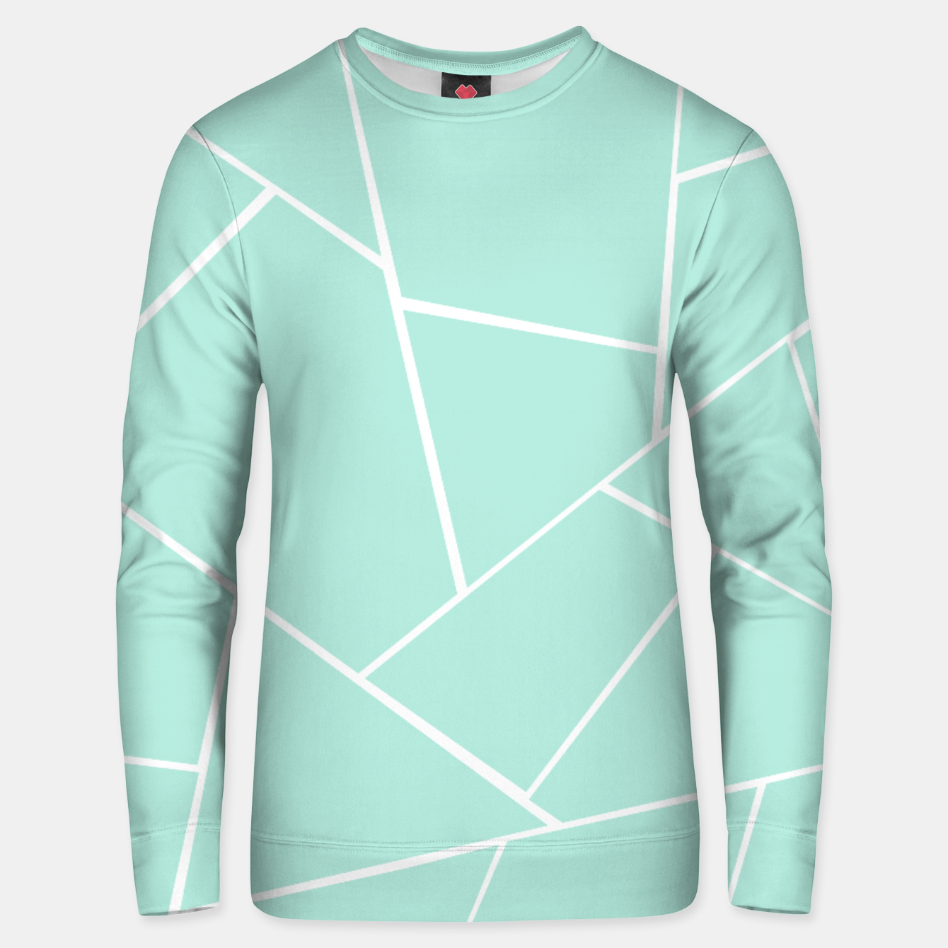 Zdjęcie Mint Geometric Glam #1 #geo #decor #art  Unisex sweatshirt - Live Heroes