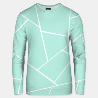 Mint Geometric Glam #1 #geo #decor #art  Unisex sweatshirt obraz miniatury