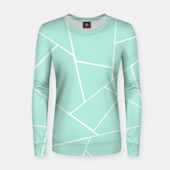 Mint Geometric Glam #1 #geo #decor #art  Frauen sweatshirt obraz miniatury