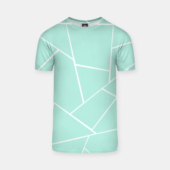 Mint Geometric Glam #1 #geo #decor #art  T-Shirt obraz miniatury