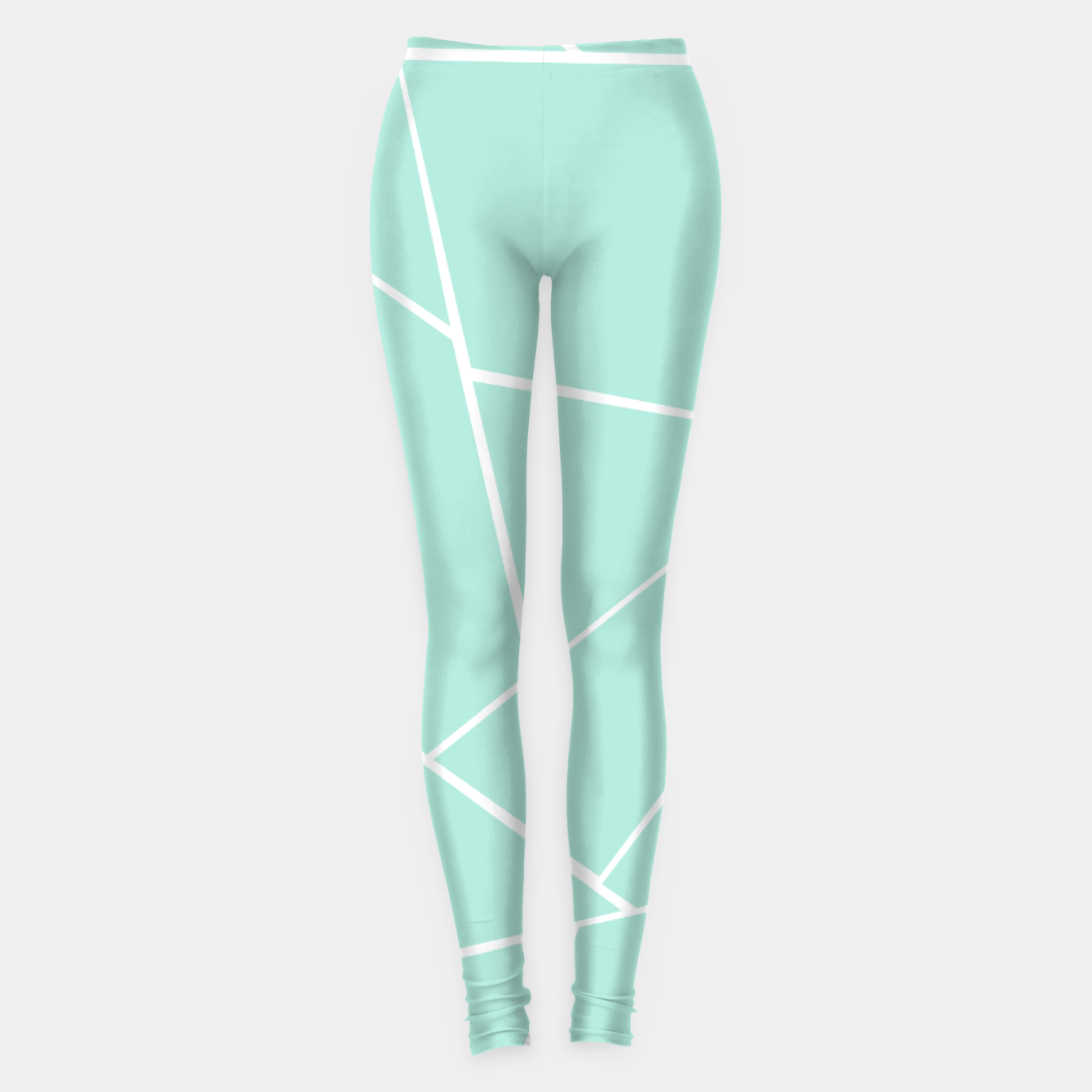 Zdjęcie Mint Geometric Glam #1 #geo #decor #art  Leggings - Live Heroes
