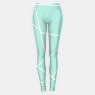 Mint Geometric Glam #1 #geo #decor #art  Leggings obraz miniatury