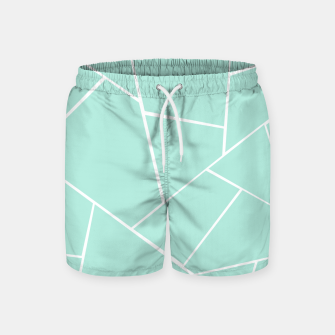 Mint Geometric Glam #1 #geo #decor #art  Badeshorts obraz miniatury