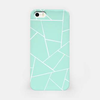 Mint Geometric Glam #1 #geo #decor #art  iPhone-Hülle obraz miniatury