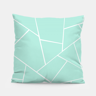 Mint Geometric Glam #1 #geo #decor #art  Kissen obraz miniatury
