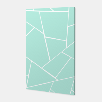 Mint Geometric Glam #1 #geo #decor #art  Canvas obraz miniatury