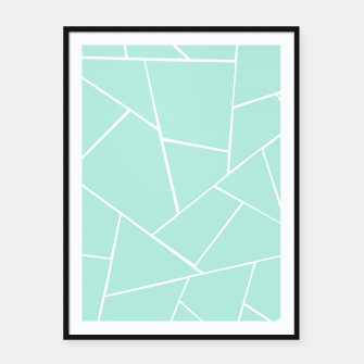 Thumbnail image of Mint Geometric Glam #1 #geo #decor #art  Plakat mit rahmen, Live Heroes