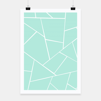 Mint Geometric Glam #1 #geo #decor #art  Plakat obraz miniatury