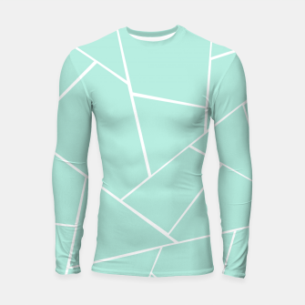 Thumbnail image of Mint Geometric Glam #1 #geo #decor #art  Longsleeve rashguard, Live Heroes