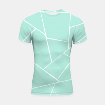 Mint Geometric Glam #1 #geo #decor #art  Shortsleeve rashguard obraz miniatury