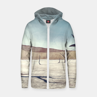 deadvlei desert trees acrfn Zip up hoodie miniature