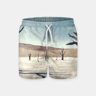 deadvlei desert trees acrfn Swim Shorts thumbnail image