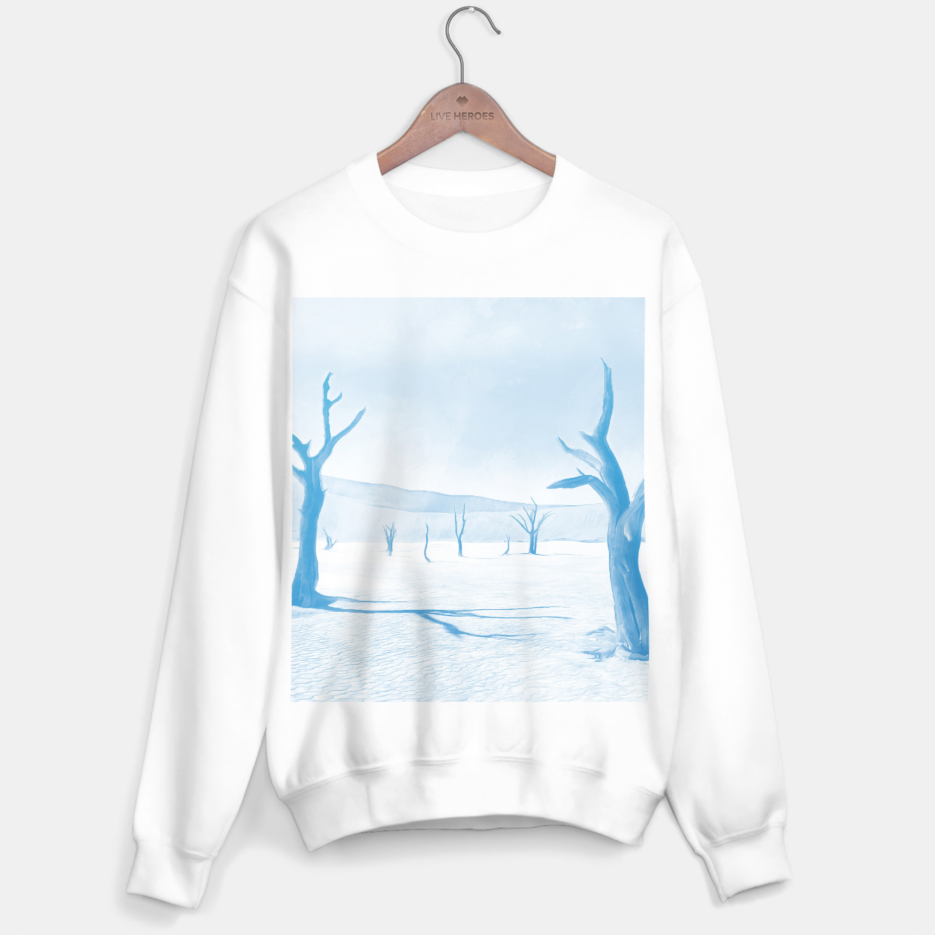 Image of deadvlei desert trees acrwb Sweater regular - Live Heroes