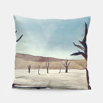 deadvlei desert trees acrfn Pillow miniature