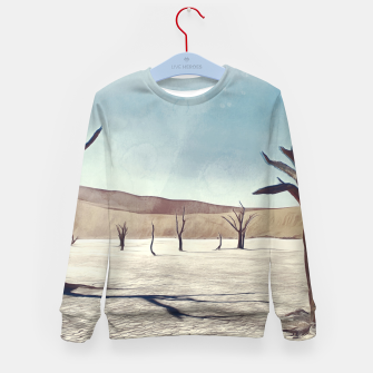 Thumbnail image of deadvlei desert trees acrfn Kid's sweater, Live Heroes