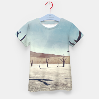Thumbnail image of deadvlei desert trees acrfn Kid's t-shirt, Live Heroes