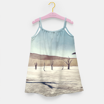 deadvlei desert trees acrfn Girl's dress miniature