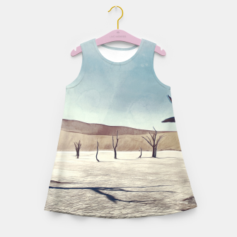 deadvlei desert trees acrfn Girl's summer dress miniature