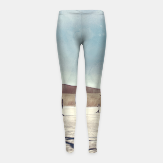 Thumbnail image of deadvlei desert trees acrfn Girl's leggings, Live Heroes
