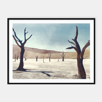 deadvlei desert trees acrfn Framed poster miniature