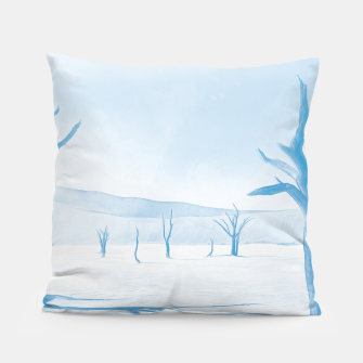 Thumbnail image of deadvlei desert trees acrwb Pillow, Live Heroes