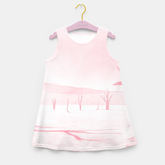 deadvlei desert trees acrpw Girl's summer dress miniature