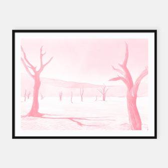 deadvlei desert trees acrpw Framed poster miniature