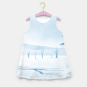 Miniature de image de deadvlei desert trees acrwb Girl's summer dress, Live Heroes