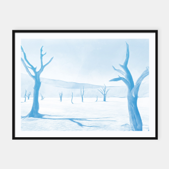 deadvlei desert trees acrwb Framed poster miniature
