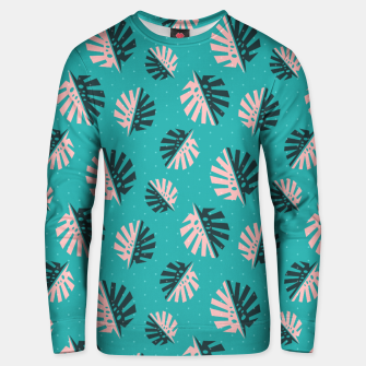 Miniatur Monstera Pattern Design Unisex sweater, Live Heroes