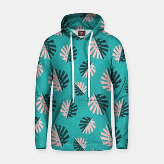 Miniatur Monstera Pattern Design Hoodie, Live Heroes
