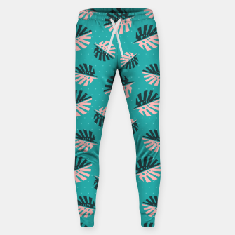 Miniatur Monstera Pattern Design Sweatpants, Live Heroes