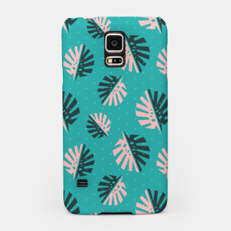 Miniatur Monstera Pattern Design Samsung Case, Live Heroes
