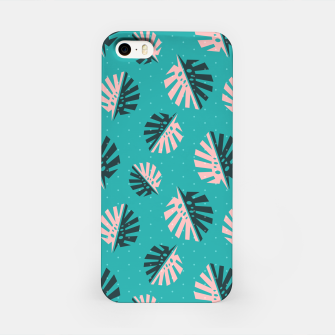 Miniatur Monstera Pattern Design iPhone Case, Live Heroes