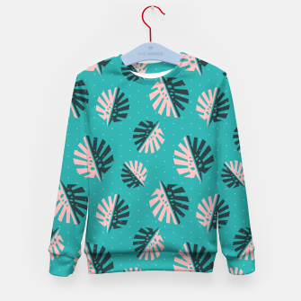 Miniatur Monstera Pattern Design Kid's sweater, Live Heroes